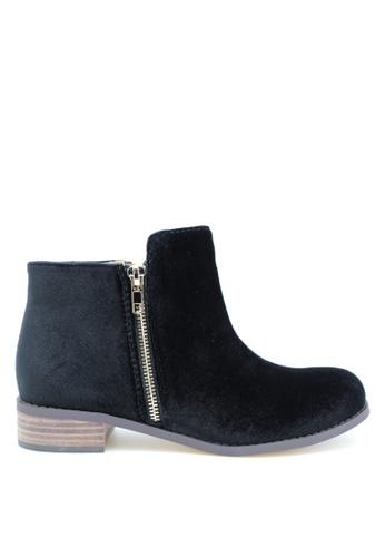 PRODUIT PARFAIT black Velvet Ankle Boots C8DE0SH0895BF0GS_1