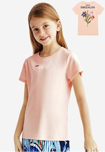FILA orange FILA KIDS FILA Logo Cotton T-shirt 10-15yrs 78E77KA5211B72GS_1