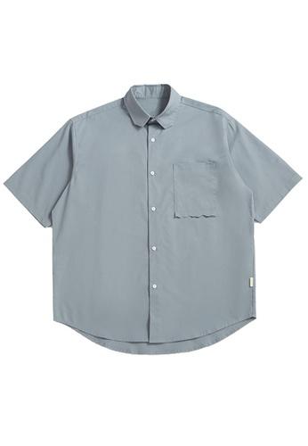 Twenty Eight Shoes Loose Cropped Pocket Short Shirt 2263S21 95CB5AA78FAB87GS_1