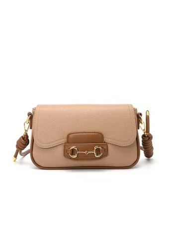Lara beige Women's French Style Elegant PU Leather Flap Underarm Bag Shoulder Bag - Beige A46EDAC4FFA4AEGS_1