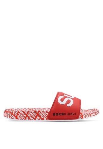 Superdry red Superdry Aop Beach Slides B62B5SHF664783GS_1