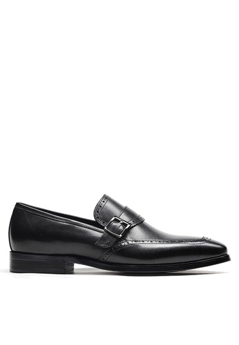 Twenty Eight Shoes black Calf Leather Single Monk Strap Shoes VMF201704 80F3ESHC4C94AAGS_1