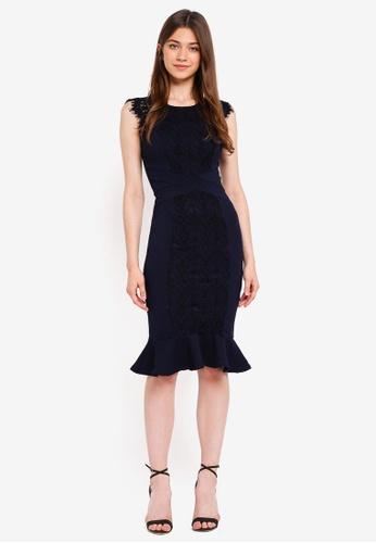 9041731cbe Shop Lipsy Lace Panel Dress Online on ZALORA Philippines
