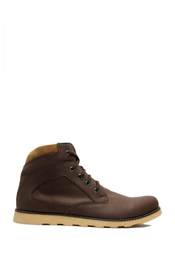D-Island brown D-Island Shoes Boots Zipper Sole Rubber Comfort Dark Brown B8A07SH0FC8EC2GS_1