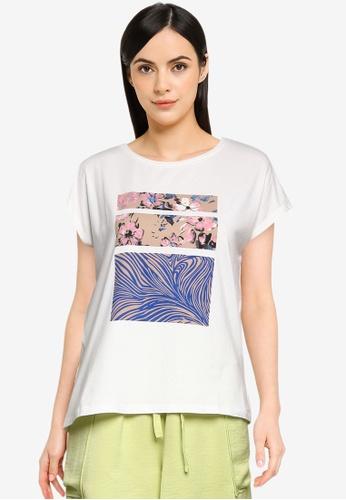 Vero Moda white Giaava Short Sleeves T-Shirt E1456AA361D8DEGS_1