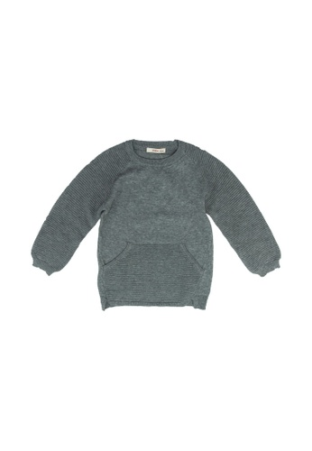 FOX Kids & Baby grey Baby Boy Sweater F6FB4KA7FAA42AGS_1