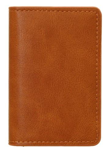 Baellerry brown Dompet Kartu Pria Model Panjang Casual Men's Card Wallet RFID Protection Material Kulit ORIGINAL A6F7BAC720E854GS_1