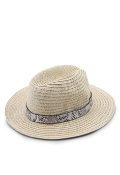 03d09d1e 40% OFF River Island Paper Braid Fedora Trim Hat RM 109.00 NOW RM 65.90  Sizes One Size