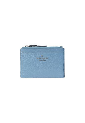 Kate Spade blue Kate Spade Grove Street Adi Card Case with Hardware Logo Baltic Sea wlru6068 1A33AAC6AAAE8CGS_1