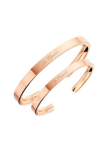 """CELOVIS gold Celovis Valentine Collection """"Je T'aime"""" Couple Bangle Set 1C020AC660D4C7GS_1"""
