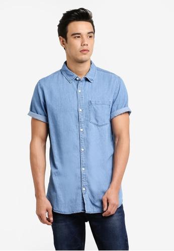 Cotton On 藍色 91 短袖襯衫 CO372AA09JQSMY_1