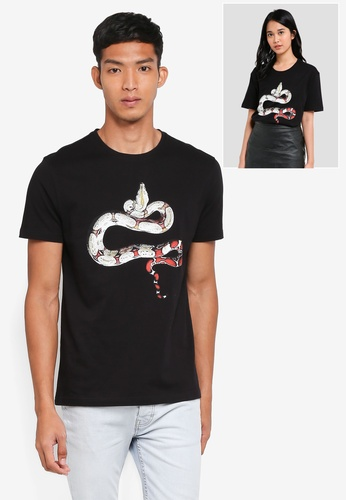 UniqTee black Viper Snake Graphic Tee E7564AA481488CGS_1