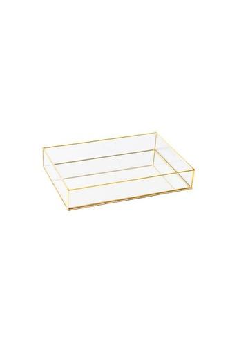 DILAS HOME Rectangle Vintage Brass Glass Tray - Medium 1626AHL4732822GS_1