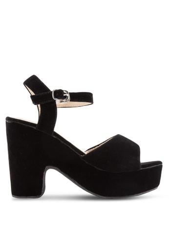 Open Toe Platform Block Heels