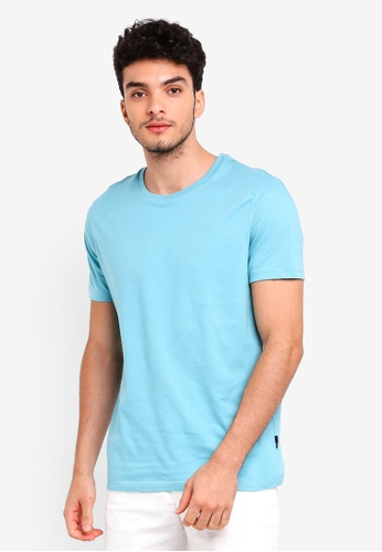 Burton Menswear London 綠色 Fresh Mint Crew Neck T-Shirt A9025AA97BC837GS_1