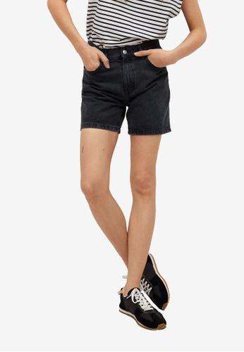 Mango black Straight Denim Shorts 89D2CAA0FF549CGS_1