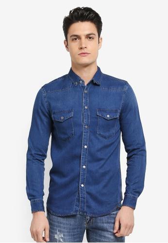 Electro Denim Lab blue Denim Shirt 52897AA0ADCBA2GS_1