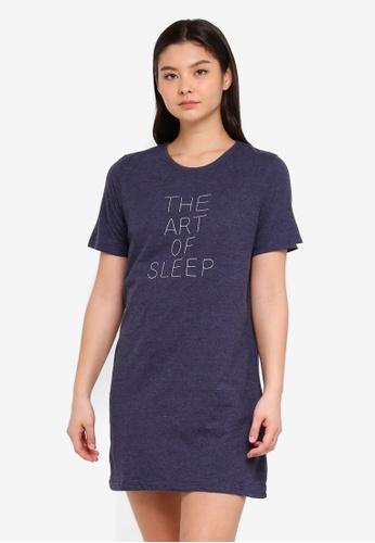 Cotton On Body blue Boxy T-Shirt Nightie A9889AA6BFAE37GS_1