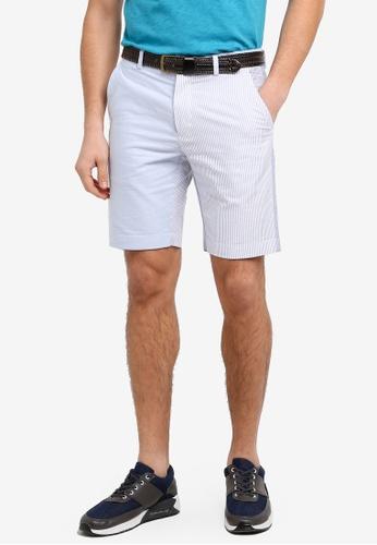 Brooks Brothers 藍色 條紋拼接休閒短褲 7AD7FAAB49730CGS_1