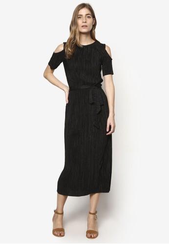 交疊條紋挖esprit 京站肩連身裙, 服飾, 洋裝
