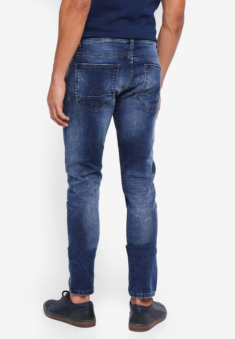 Blue Super Burton Menswear Mid London Ethan Fit Blue Skinny Jeans Mid ExfvpqSw