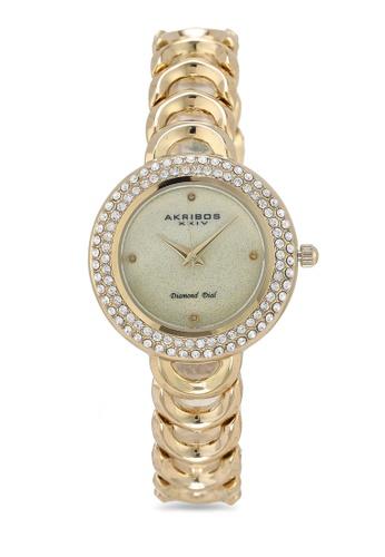 Akribos XXIV gold Diamond Glitter Watch 59B31ACB235EDAGS_1