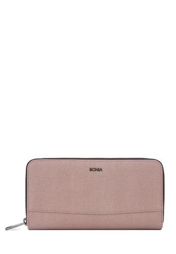 BONIA pink Blush Pink Betsy Zipper Wallet D8CA0AC3E1B901GS_1