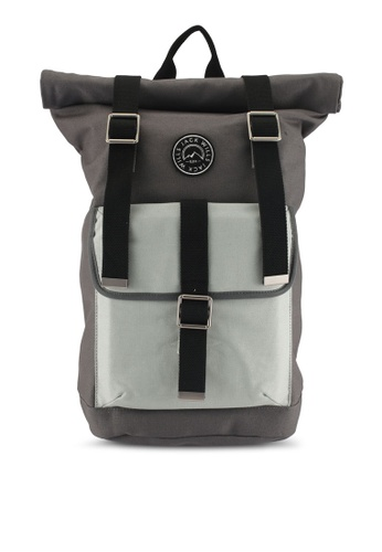 Jack Wills grey Asbdown Roll Top Backpack 6B8C9ACC37A5CAGS_1