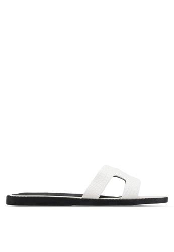 Nose white Croc Print Sandals NO327SH37BGOMY_1