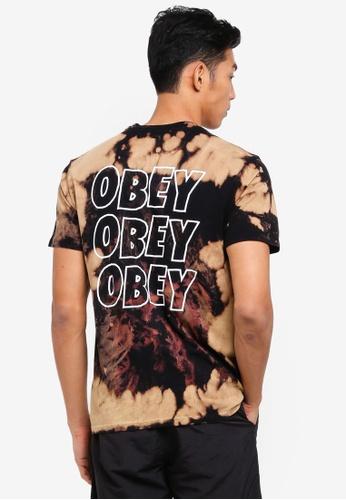 OBEY black and multi Obey Jumble Lo-Fi Tee C8F3EAA049CC78GS_1