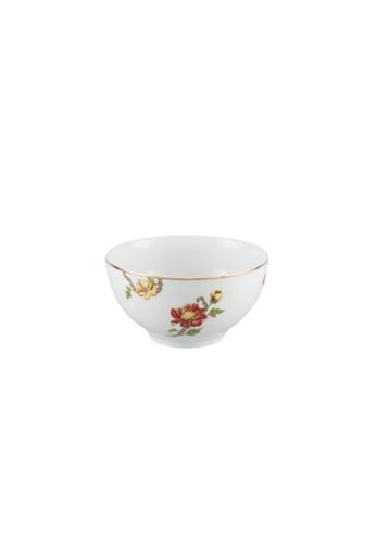 Minh Long I white Dahlia: Porcelain Rice Bowl (12cm) B2E23HLF895524GS_1