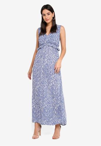 Vero Moda navy Molly Maxi Dress E9480AACE22D7FGS_1