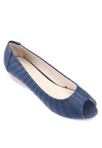 Mendrez blue Leah Peep-toe Wedges ME992SH59IOMPH_1