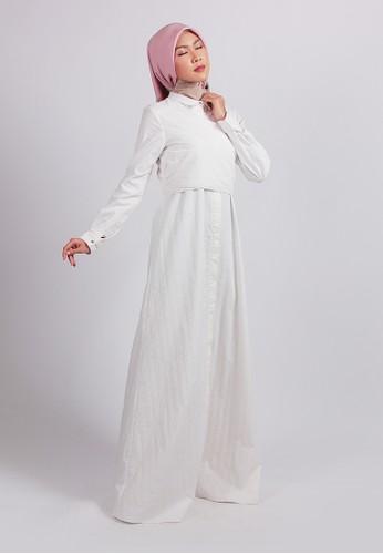 SHAFIRA white Shafira Delmora Broken White A line Dress 1741BAAD4E82C4GS_1