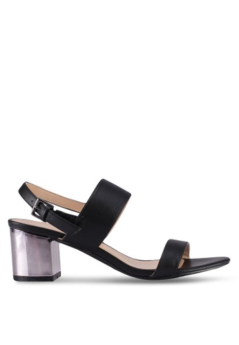 VINCCI black Strappy Heels D9164SHEE144D7GS_1