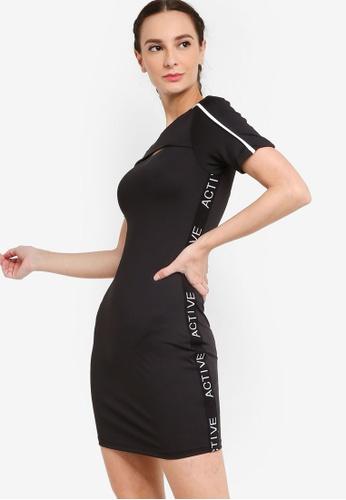 ZALORA ACTIVE black Cut Out Detail Tennis Dress B61CDAAAA93270GS_1