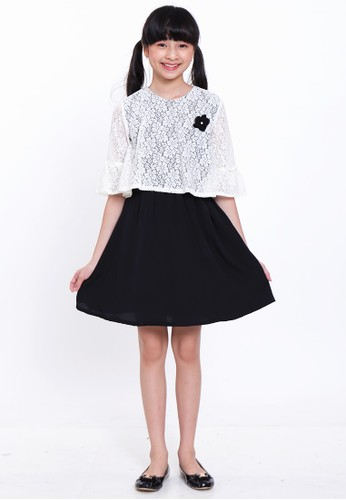EXIT GIRL white Diva Black and White Dress 22DEDKA4BC4583GS_1