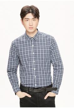 c58d61ec0d1f Life8 blue Formal Long Sleeved Shirts -11177-Deep Blue A2C51AA117C86DGS 1