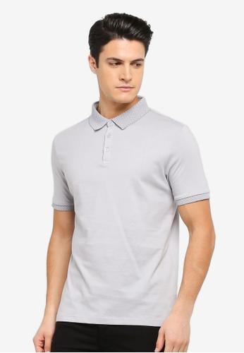 Burton Menswear London 灰色 簡約休閒POLO衫 BU964AA0T1HWMY_1