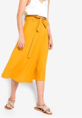 Something Borrowed yellow Paperbag Midi Skirt 90DC9AAEED27EEGS_1