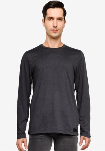 Abercrombie & Fitch grey Long Sleeve Traveler Tee E8F8EAA20CE539GS_1