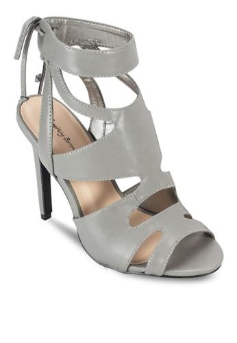 鏤空露趾羅馬高跟鞋, 女鞋, esprit retail魚口鞋