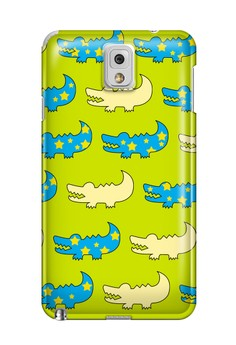 Gator Green and Blue Hard Case for Samsung Galaxy Note 3