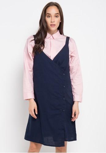 Ninety Degrees navy Navy Teala Sleeveless Dress 5BD0EAA5A44C02GS_1