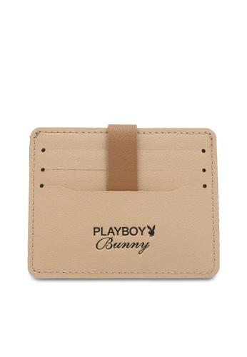 PLAYBOY BUNNY beige Women's Card Holder / Card Case E3225ACE8B4B03GS_1