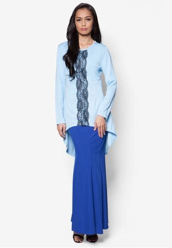 Zolace blue Endless Sway Baju Kurung Moden ZO350AA60MTJMY 1 e602f2912c