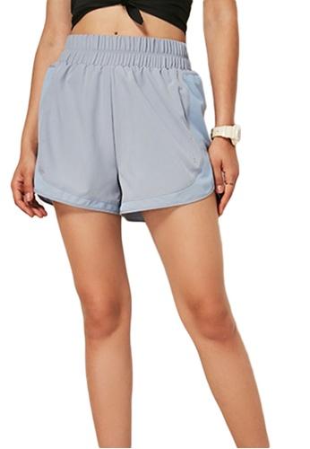 Sunnydaysweety blue Loose Cutting Sports Shorts A081015BL 0B3D7AA7D8565BGS_1