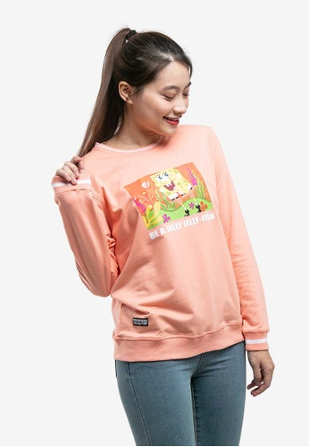 FOREST pink Forest X Spongebob Ladies Printed Round Neck Pull Over - FS820022 153DBAAE081DC1GS_1