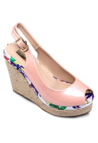魚口露趾繞踝楔型跟鞋, 女鞋esprit暢貨中心, 鞋