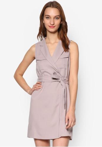 彈性束腰無袖襯衫連身裙, 服esprit暢貨中心飾, 服飾